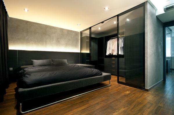 bedroom walk in closet design photo - 10