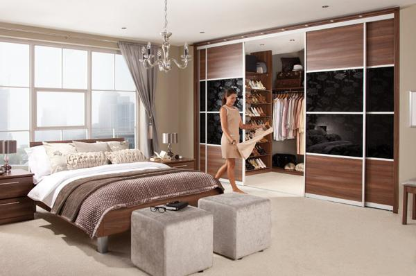 bedroom walk in closet design photo - 2
