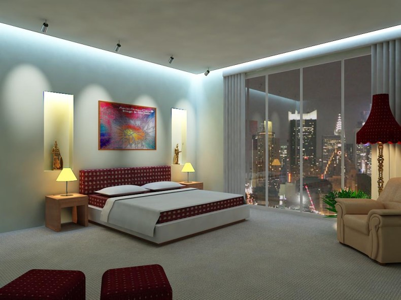 best modern bedroom lighting photo - 1