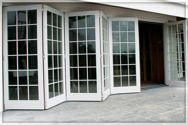 bi folding french doors exterior photo - 6