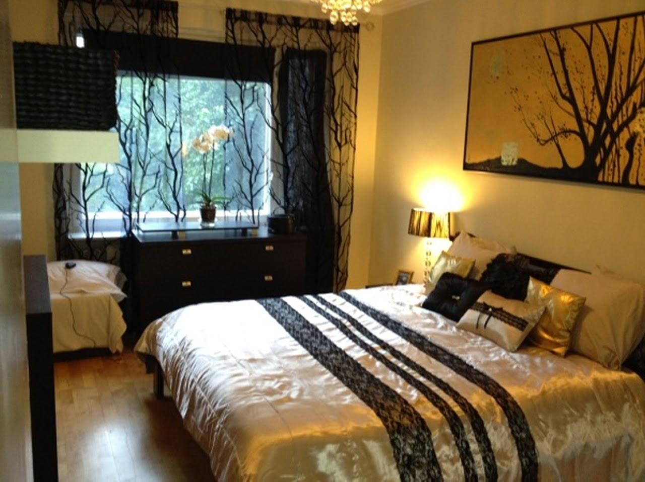 Black And Gold Bedroom Design Photo   2