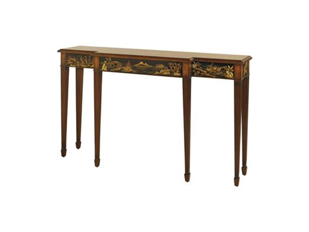 black and gold sofa table photo - 4