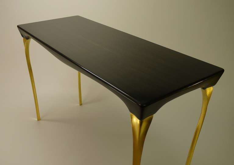 black and gold sofa table photo - 5