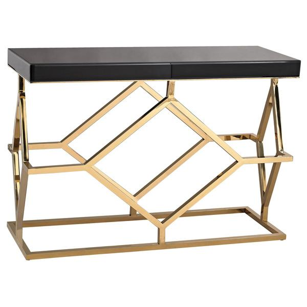 black and gold sofa table photo - 7