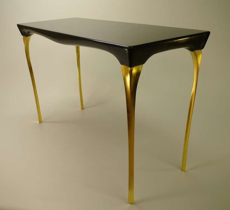 black and gold sofa table photo - 8