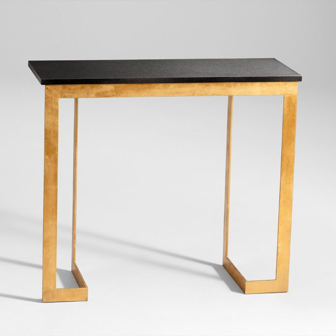 black and gold sofa table photo - 9