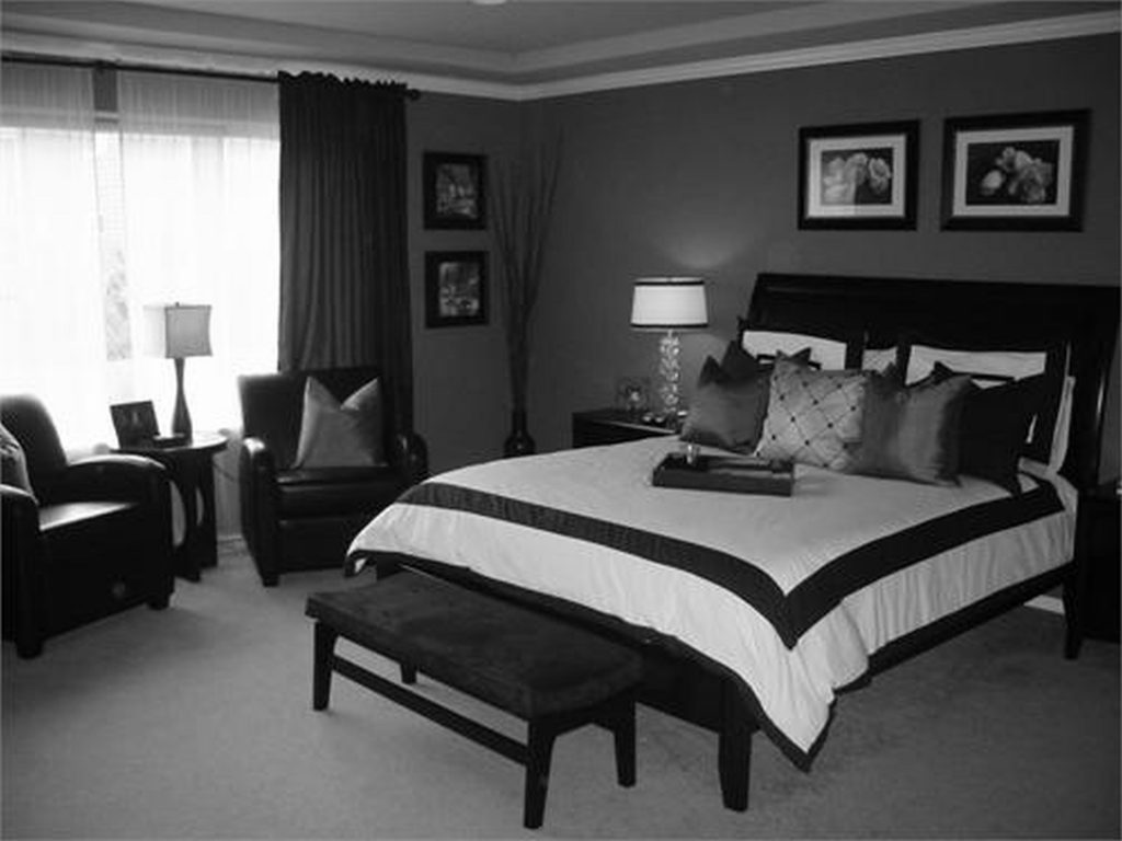 black and gray bedroom design photo - 6