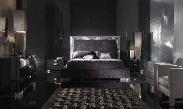 black and gray bedroom design photo - 7