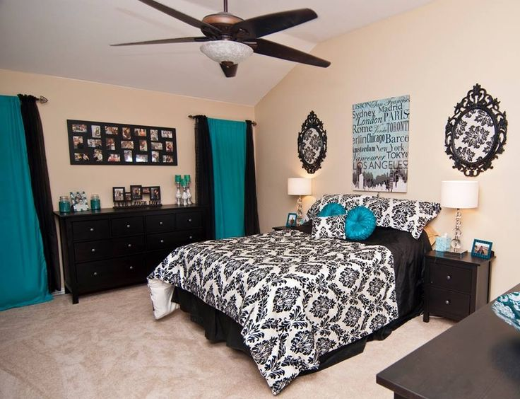 black and white and blue bedrooms photo - 3