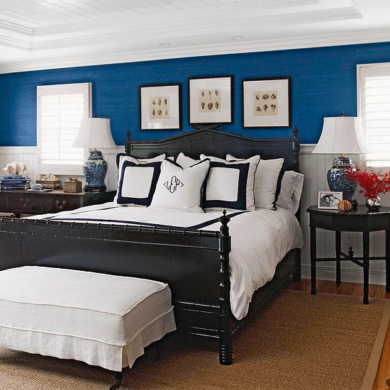 black and white and blue bedrooms photo - 9