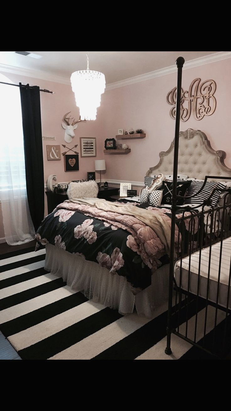 black and white bedroom designs for girls photo - 10