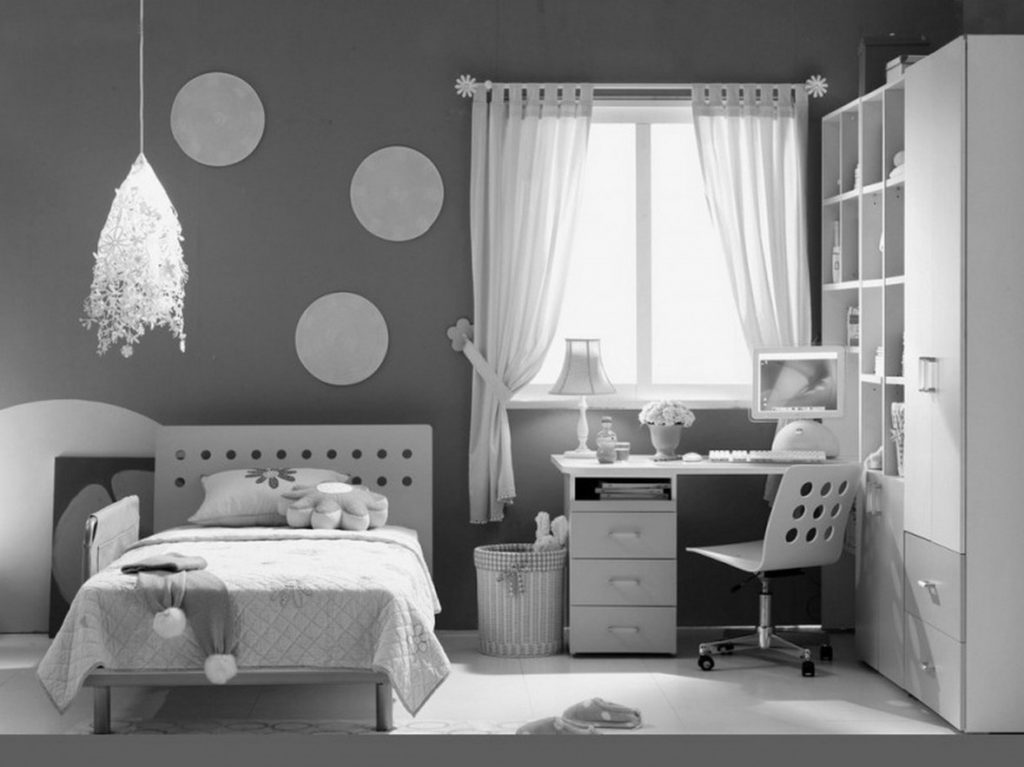 black and white bedroom designs for girls photo - 2