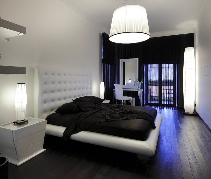 black and white bedroom designs for girls photo - 3