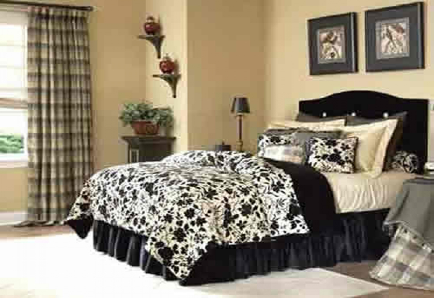 black and white bedroom designs for girls photo - 4