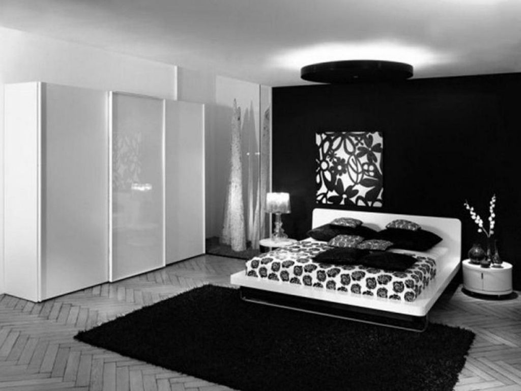 black and white bedroom designs for girls photo - 5