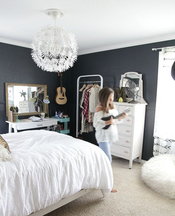 black and white bedroom designs for girls photo - 6
