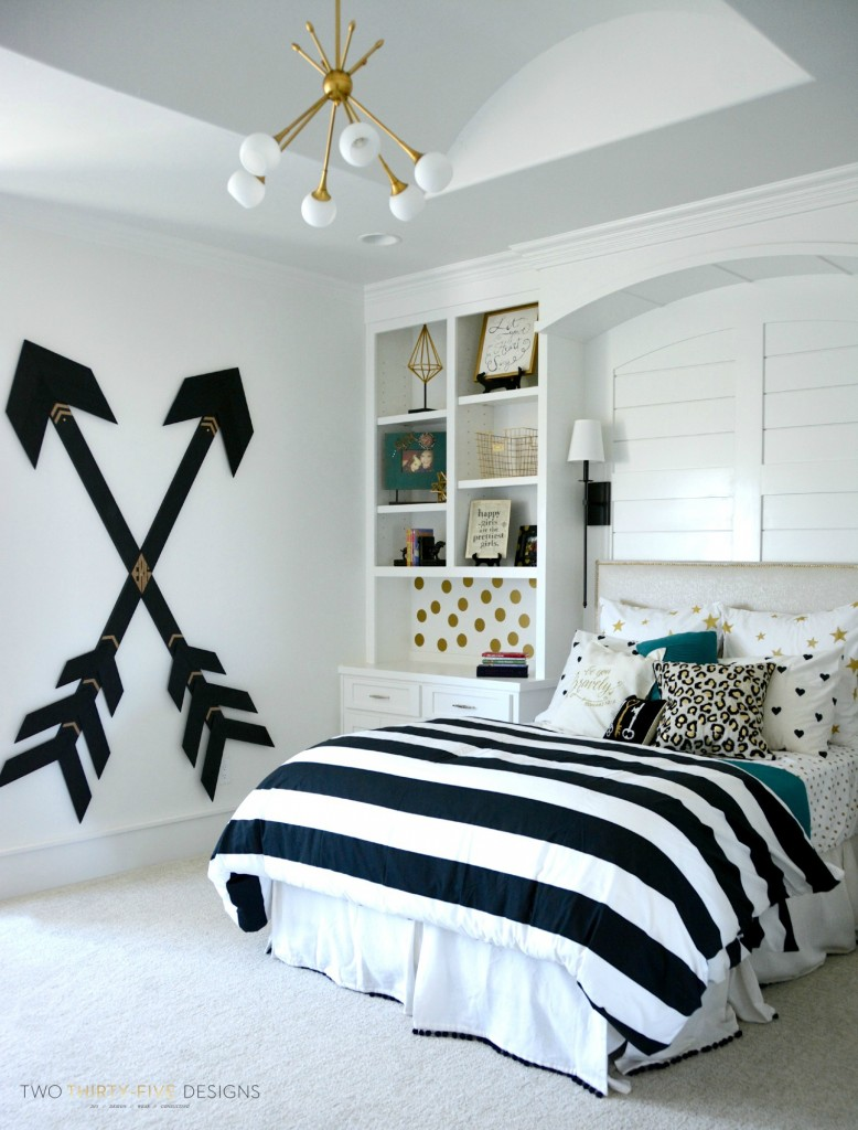 black and white bedroom designs for girls photo - 7