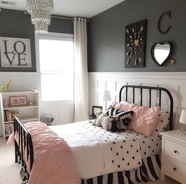black and white bedroom designs for girls photo - 9