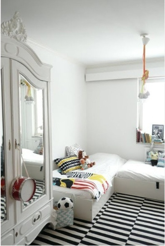 black and white bedroom designs for kids photo - 1