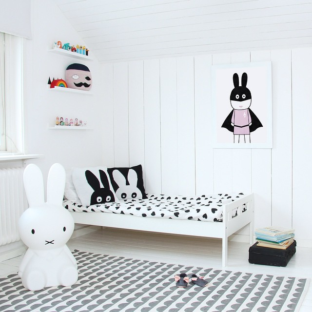 black and white bedroom designs for kids photo - 2