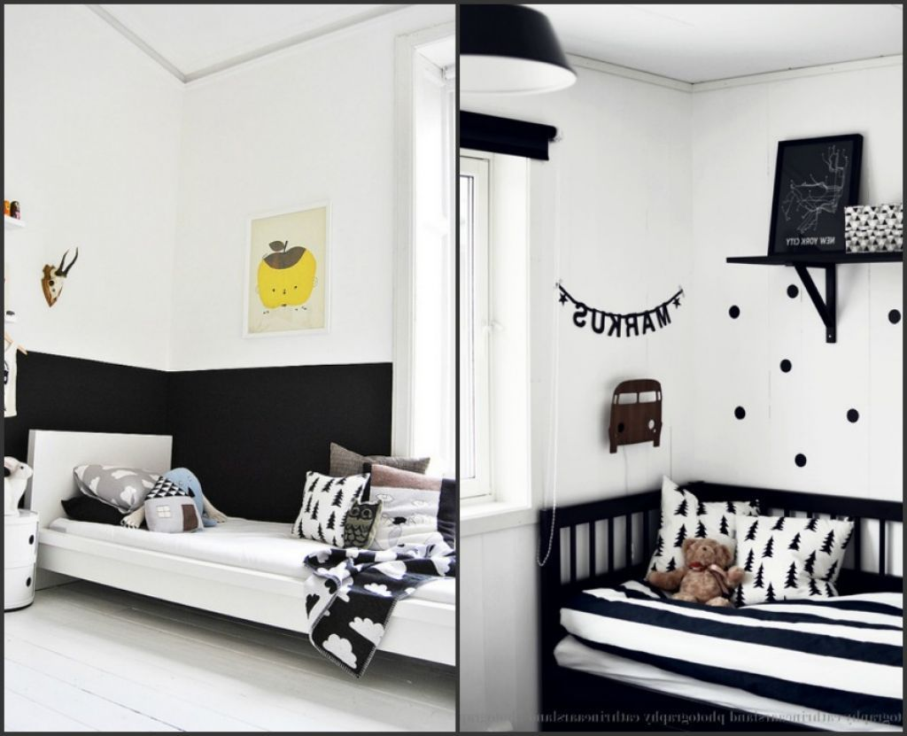 black and white bedroom designs for kids photo - 3