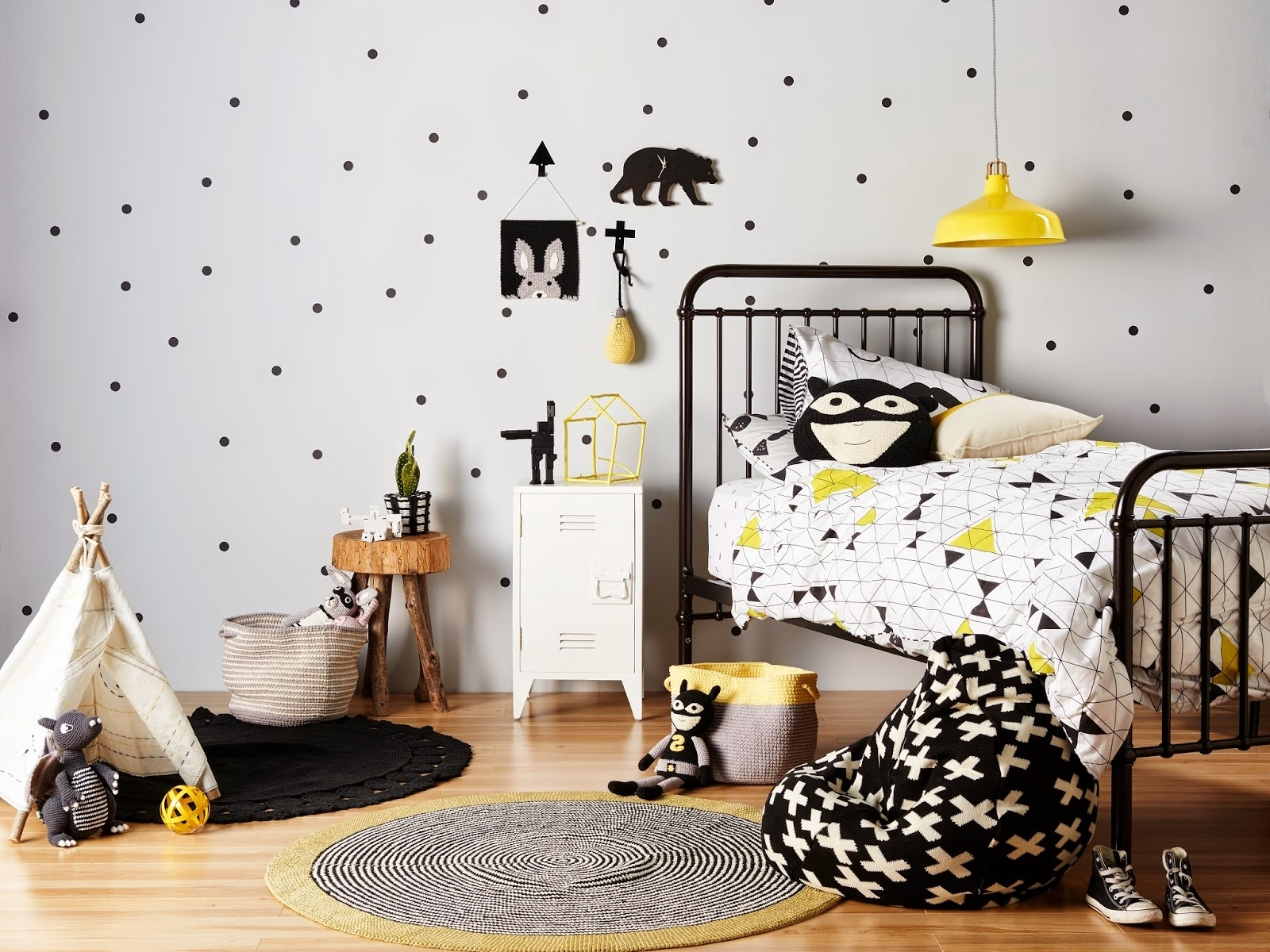 black and white bedroom designs for kids photo - 7
