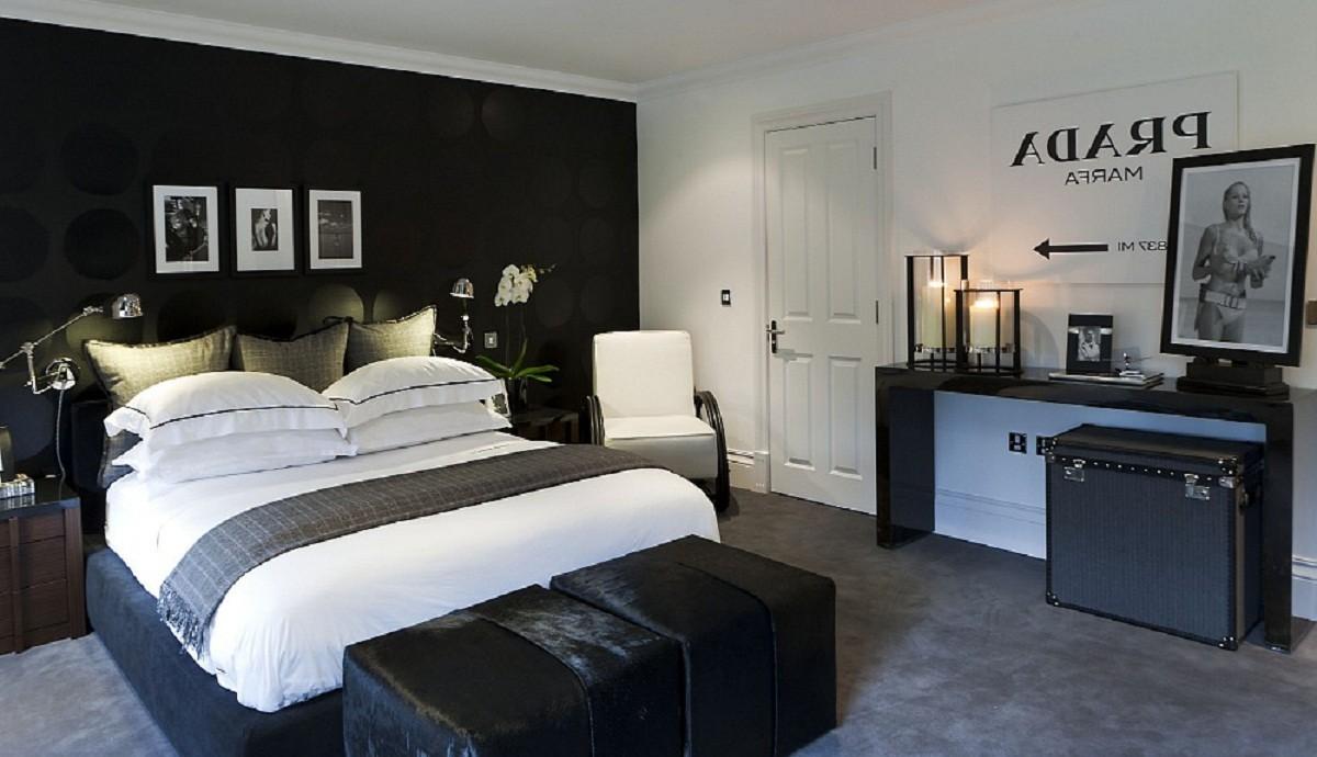 black and white bedroom designs for men photo - 10
