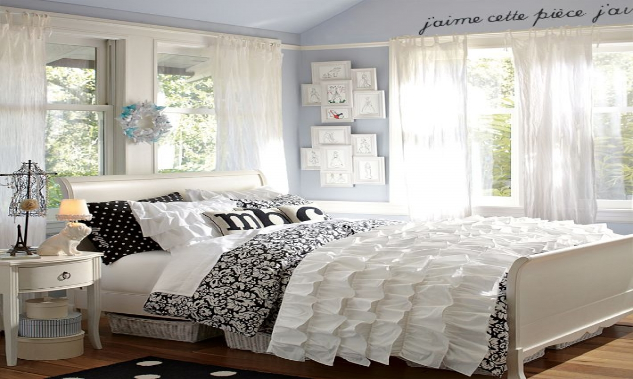 black and white bedroom designs for teenage girls photo - 8