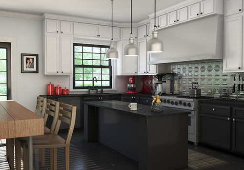 black and white country kitchen designs photo - 10