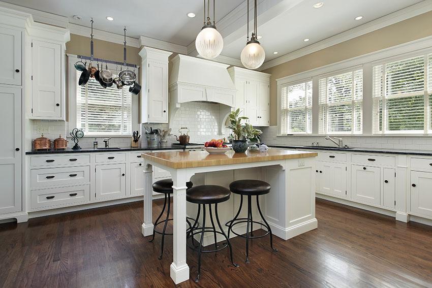 black and white country kitchen designs photo - 6