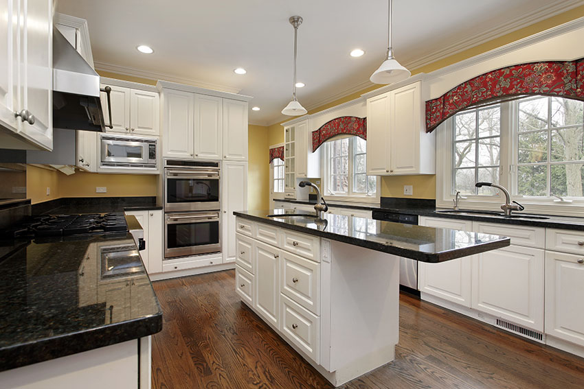 black and white country kitchen designs photo - 7