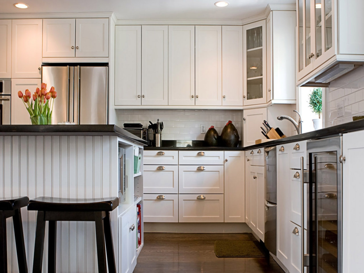 black and white country kitchen designs photo - 8