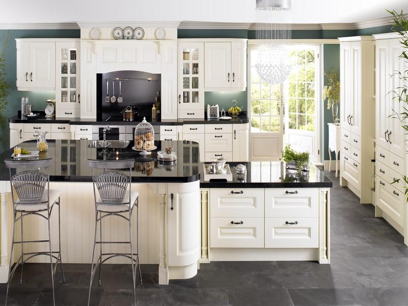 black and white country kitchen designs photo - 9