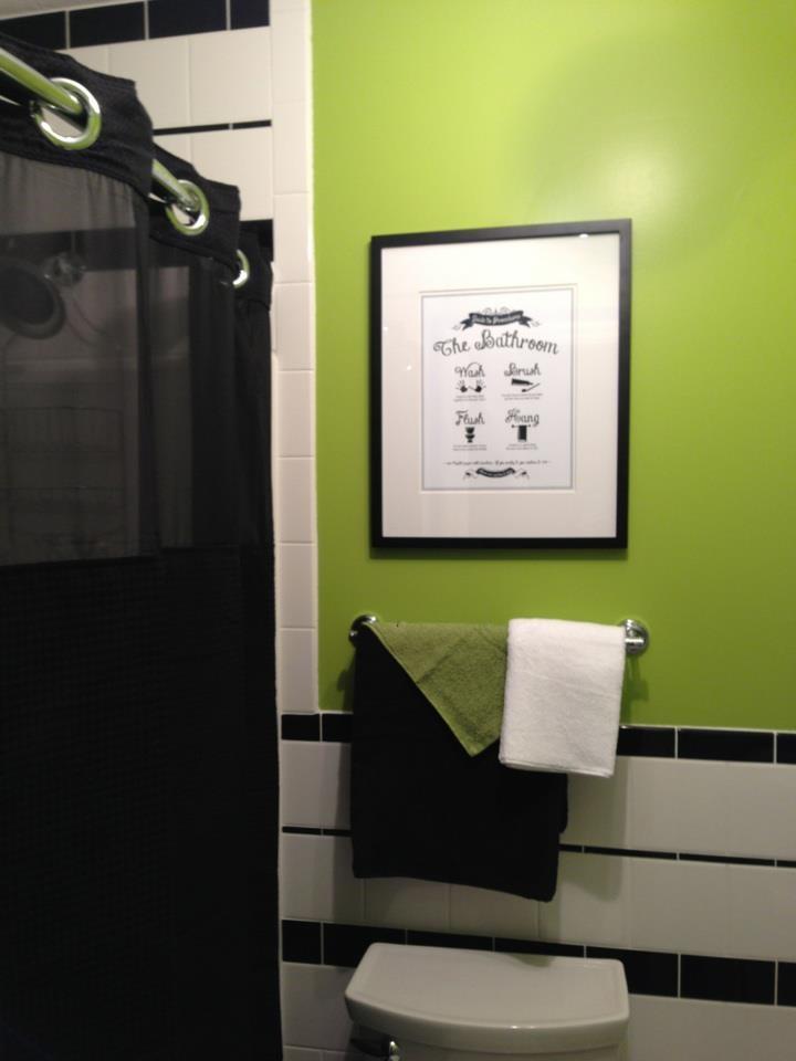 black and white kids bathroom ideas photo - 2