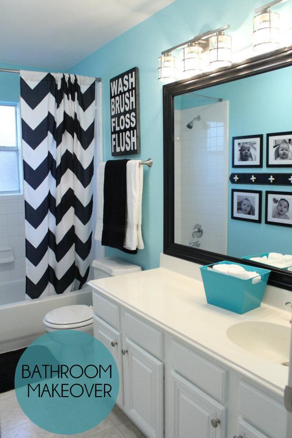 black and white kids bathroom ideas photo - 9