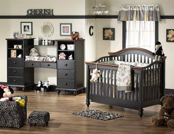black baby bedroom furniture photo - 2