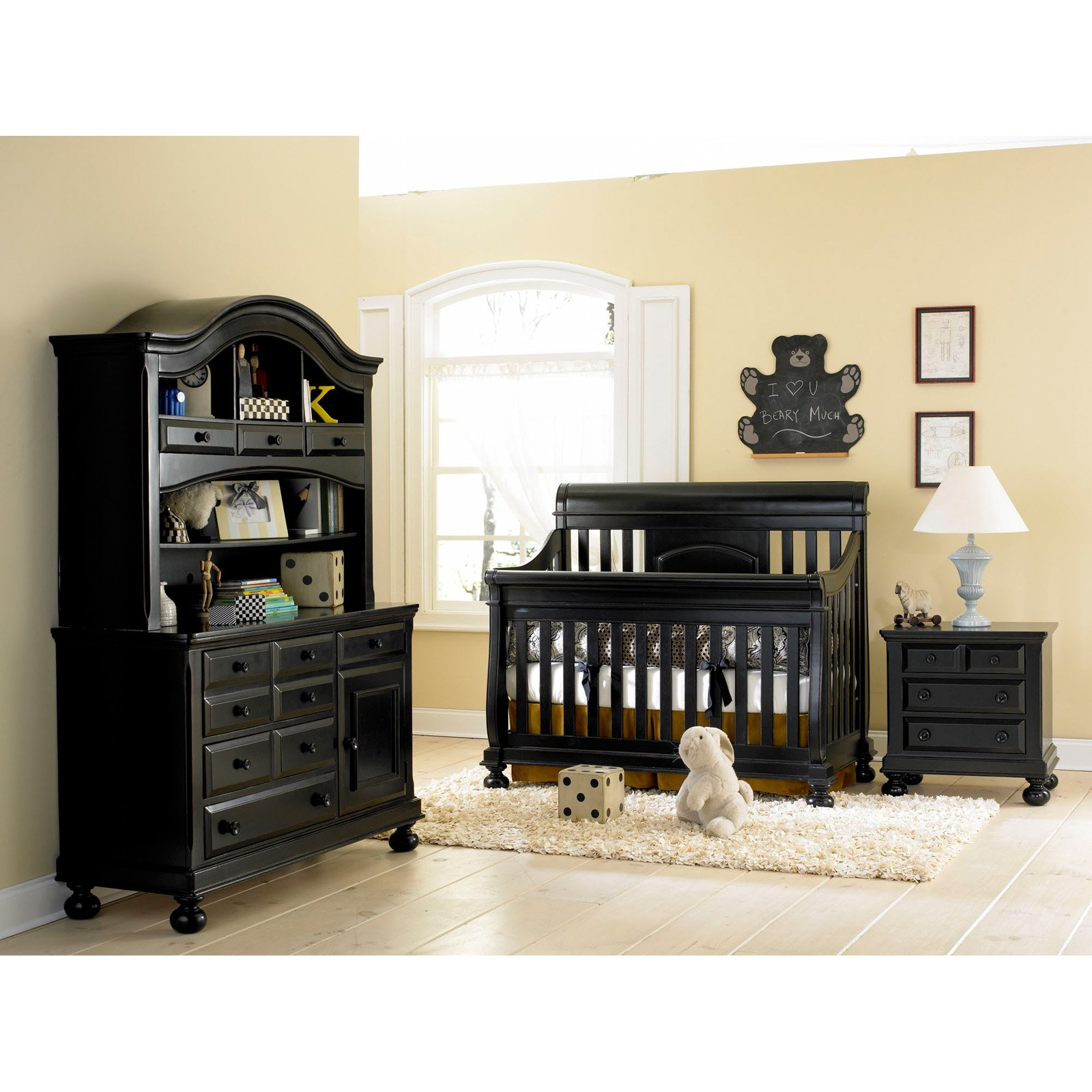 black baby bedroom furniture photo - 3