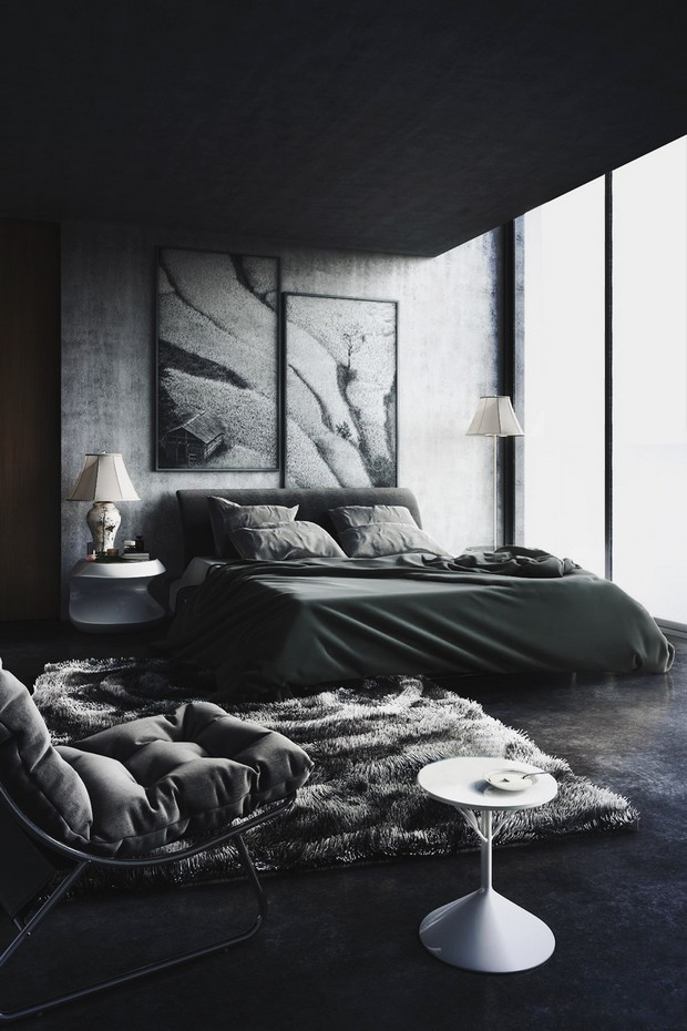 black bedroom design pictures photo - 10