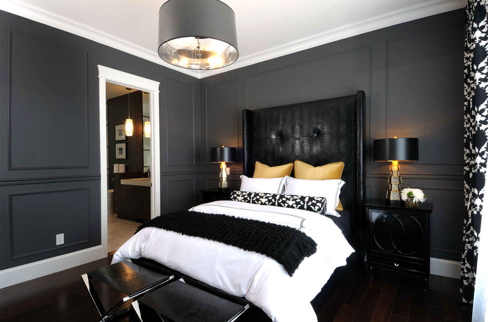 black bedroom design pictures photo - 2