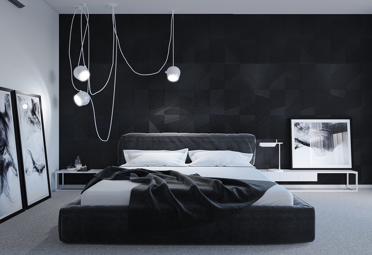 black bedroom design pictures photo - 8