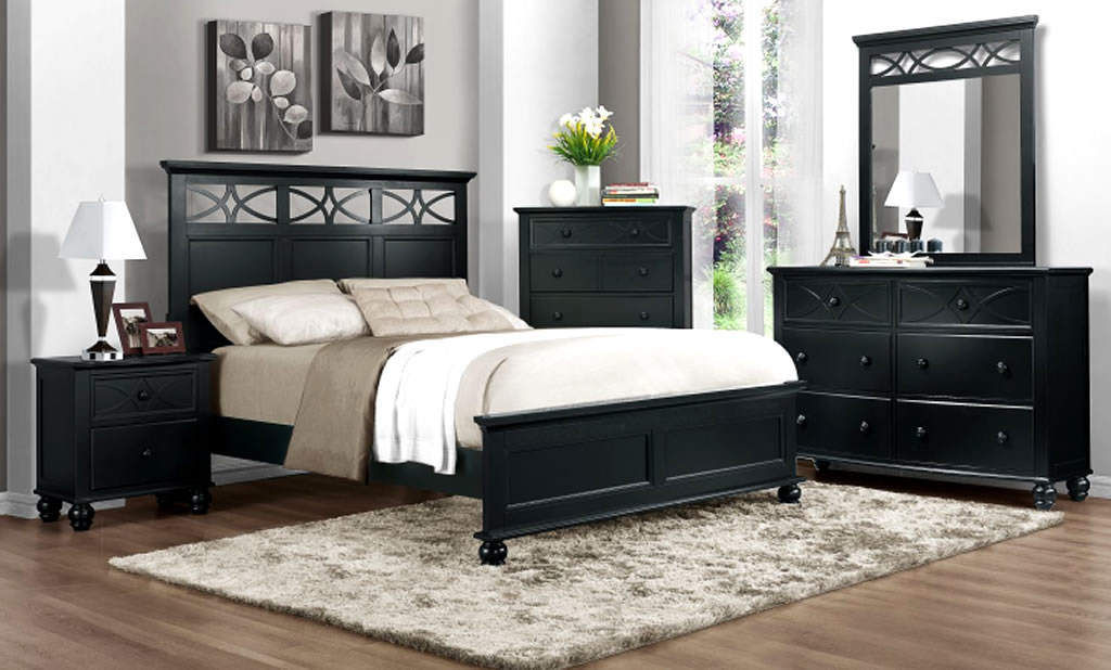 black bedroom furniture decorating ideas photo - 1