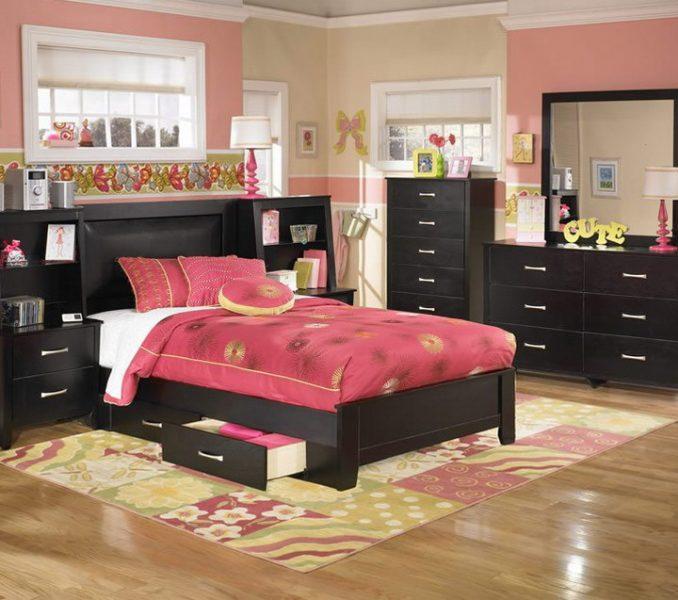 black bedroom furniture for girls photo - 5