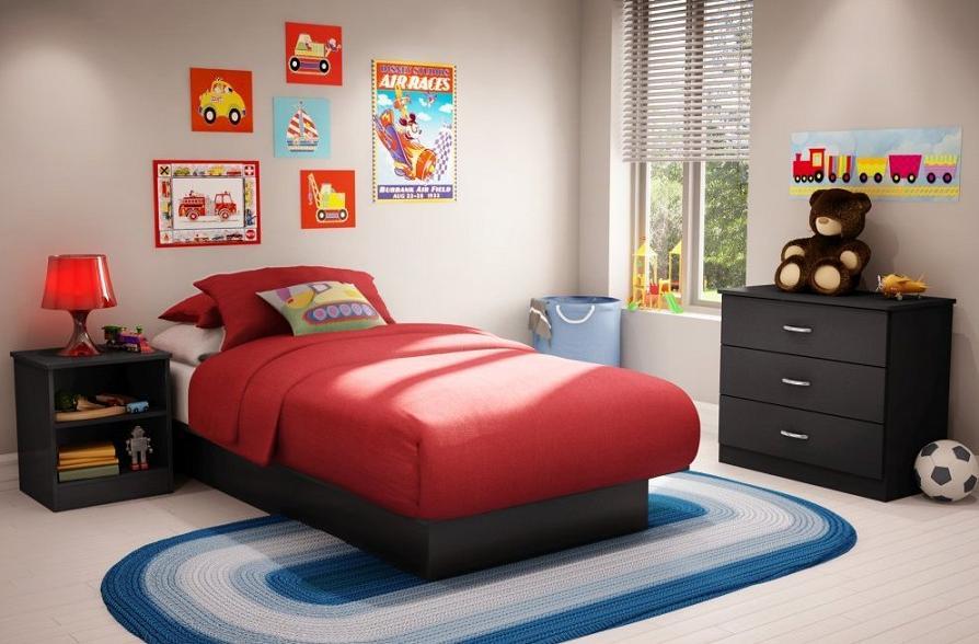 Black bedroom furniture for kids | Hawk Haven