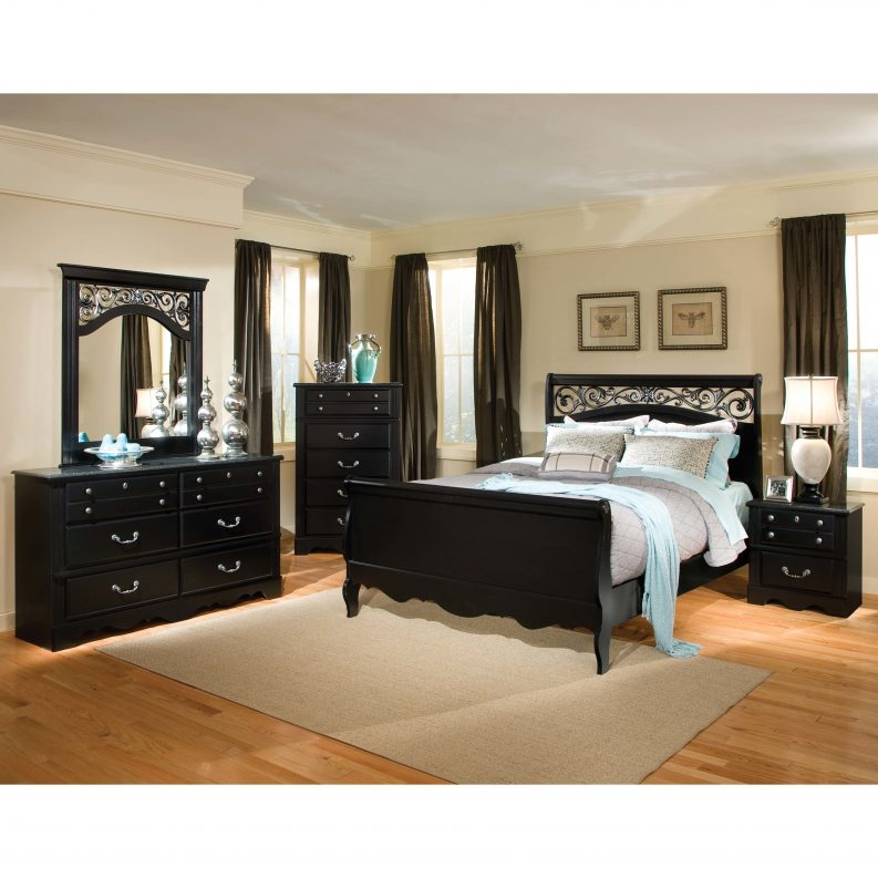 black bedroom furniture full size photo - 8