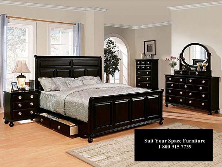black bedroom furniture queen photo - 1