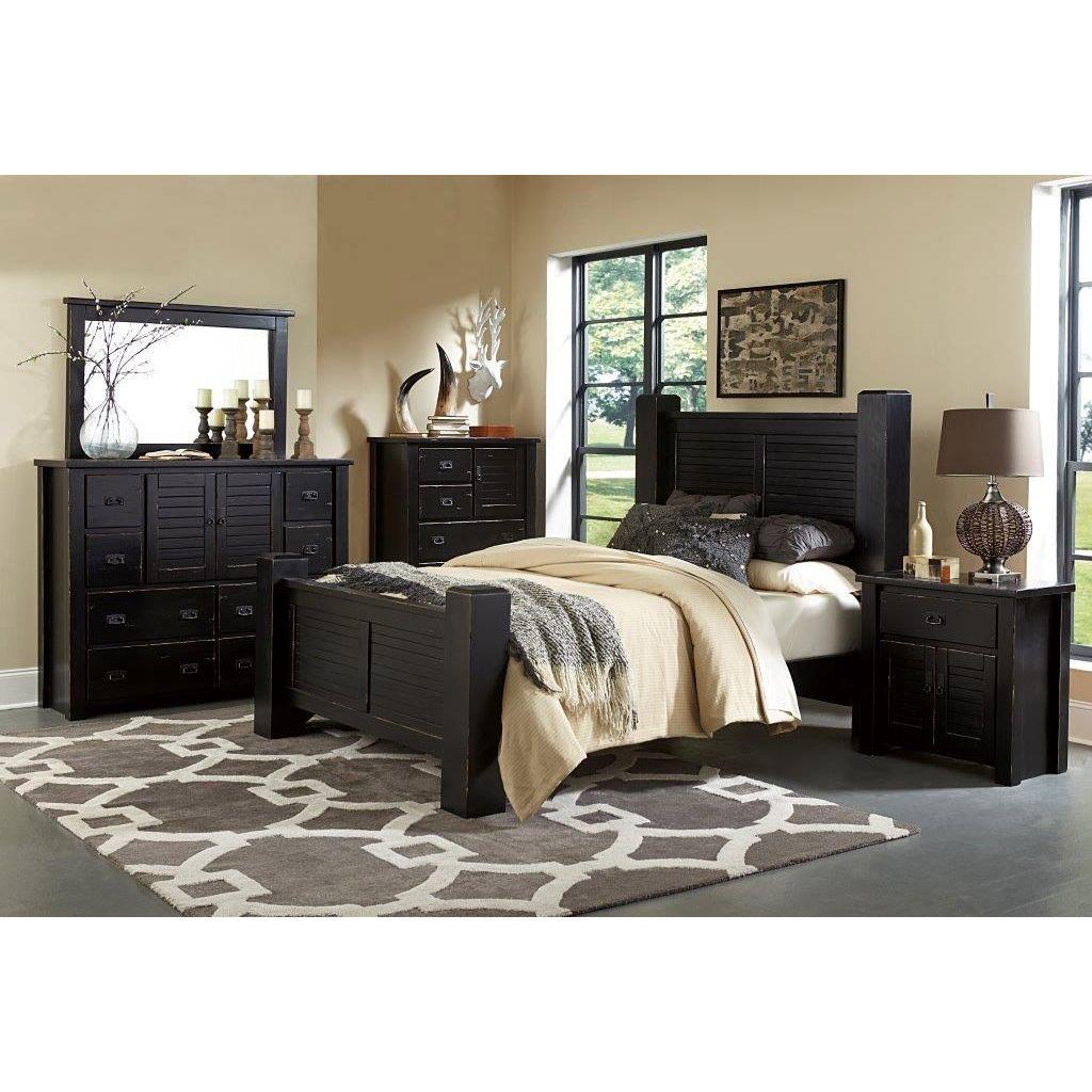 black bedroom furniture queen photo - 10