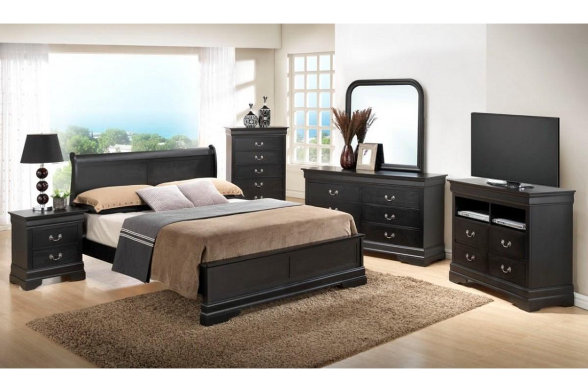 black bedroom furniture queen photo - 6