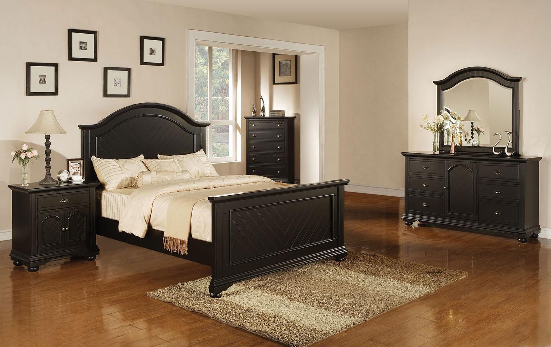 black bedroom furniture queen photo - 8