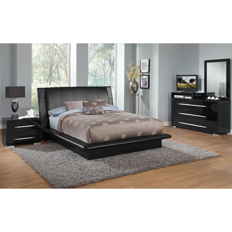 black bedroom furniture queen photo - 9