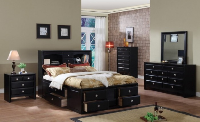 black bedroom furniture what color walls photo - 10